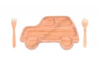 Luigi Auto- Babynahrung-Set, Braun, 3-teilig