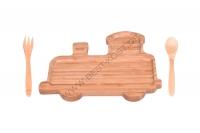 Trainy Babynahrungs-Set, Braun, 3-teilig