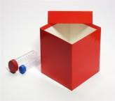 Mittlere Geschenkbox rot - hochglanz - 13,6 x 13,6 x 13,0 cm