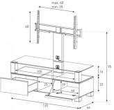 Sonorous TV-Moebel MD8123-B-INX-CPN