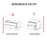 Sonorous TV-Moebel Element(e)s EX195 = EX10-DD-EX20-DD individuell kombiniert