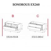 Sonorous TV-Moebel Element(e)s EX260 = EX10-FD-EX12-DD individuell kombiniert