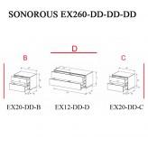 Sonorous TV-Moebel Element(e)s EX260 = EX20-DD-EX12-DD-EX20-DD individuell kombiniert