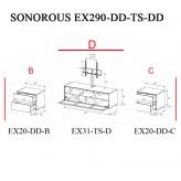 Sonorous TV-Moebel Element(e)s EX290 = EX20-DD-EX31-TS-EX20-DD individuell kombiniert