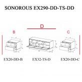 Sonorous TV-Moebel Element(e)s EX290 = EX20-DD-EX32-TS-EX20-DD individuell kombiniert